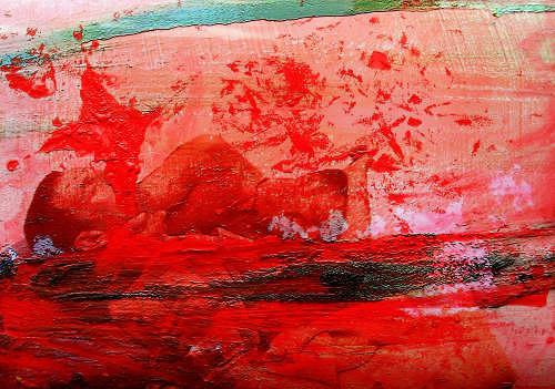 gawaju, Verzweiflung mixed-media, Krieg, Tod/Krankheit, Gegenwartskunst, Abstrakter Expressionismus