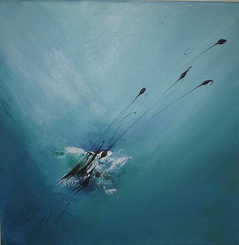 Anita S., Blaue Lagune, Abstraktes, Abstrakte Kunst