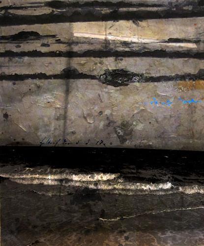 Holger Stroecks, 05.03.17, Landschaft: See/Meer, Arte Cifra, Abstrakter Expressionismus