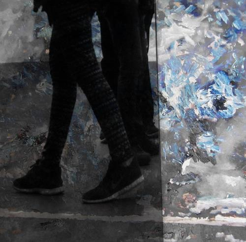 Holger Stroecks, 27.05.2014 b / linientreu, Landschaft: Ebene, Gegenwartskunst, Abstrakter Expressionismus