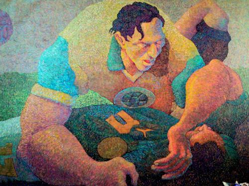 RENTERIA, Tribute to Mark-Vivien FOE # 17, Geschichte, Moderne, Abstrakter Expressionismus
