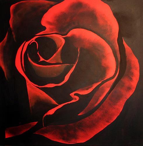 artebur, Rose, Natur, Moderne, Abstrakter Expressionismus