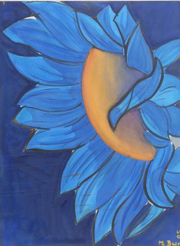 artebur, Sonnenblume blau, Diverses, Diverses, Moderne