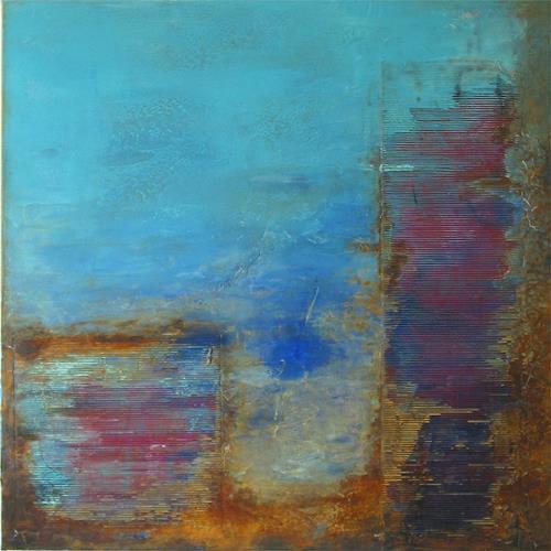 Susanne Müller-Wälti / atelier card and art, Wrack, Abstraktes, Abstrakte Kunst