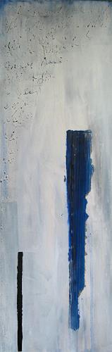 Susanne Müller-Wälti / atelier card and art, Wintertag, Abstraktes, Abstrakte Kunst, Moderne