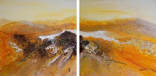 Ingrid TROLP, Leuchten der Stille, Landschaft: Hügel, Abstrakte Kunst