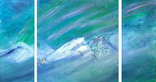 Ingrid TROLP, Aurora Borealis, Natur: Erde, Landschaft: Berge