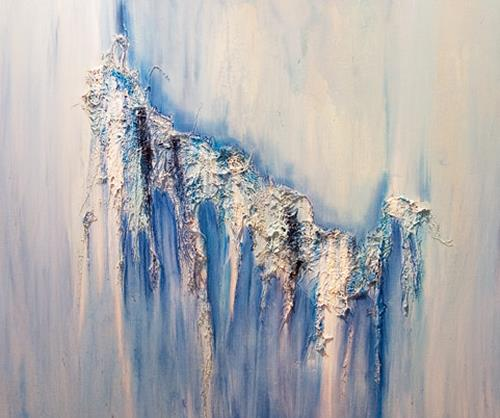 Ingrid TROLP, Winterhauch, Natur: Erde, Zeiten: Winter, Abstrakte Kunst, Expressionismus