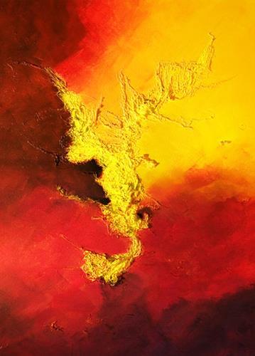 Ingrid TROLP, Tanz am Vulkan, Natur: Erde, Natur: Feuer, Abstrakte Kunst, Expressionismus