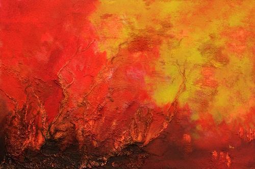 Ingrid TROLP, Die Erde brennt, Natur: Erde, Landschaft: Herbst, Abstrakter Expressionismus