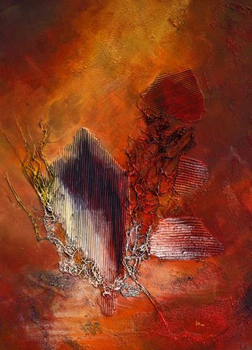 Ingrid TROLP, Nkosi sikelel' i Afrika (Gott segne Afrika), Abstraktes, Gefühle: Geborgenheit, Expressionismus