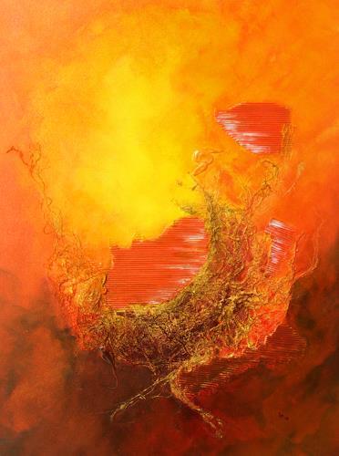 Ingrid TROLP, Abendsonne Südafrika, Romantik: Sonnenuntergang, Landschaft: Sommer, Expressionismus