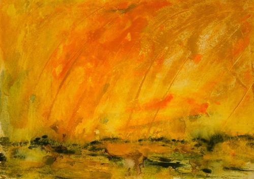 Ingrid TROLP, Morgen in der Savanne, Landschaft: Ebene, Zeiten: Frühling