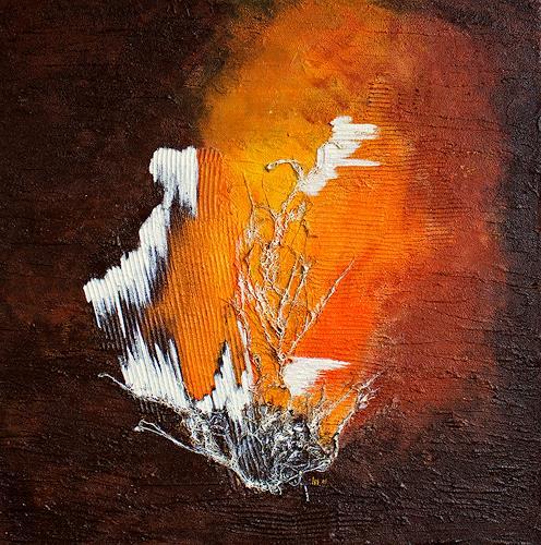 Ingrid TROLP, Sonne und Eis, Natur: Erde, Symbol, Gegenwartskunst, Expressionismus