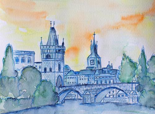 Ingrid TROLP, Karlsbrücke, Prag, Architektur, Diverse Bauten, Gegenwartskunst