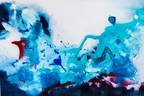 Ingrid TROLP, blue world, Landschaft: See/Meer, Natur: Wasser, Gegenwartskunst, Abstrakter Expressionismus
