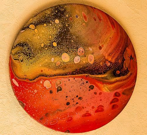 Ingrid TROLP, Der Rote Planet, Abstraktes, Diverse Weltraum, Gegenwartskunst, Expressionismus