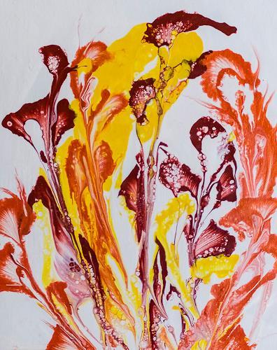 Ingrid TROLP, flower power, Abstraktes, Gegenwartskunst