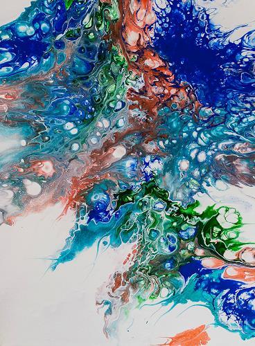 Ingrid TROLP, Glanzlichter, Abstraktes, Gegenwartskunst, Expressionismus