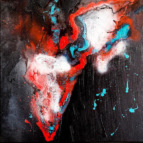Ingrid TROLP, Brennendes Afrika, Abstraktes, Natur: Erde, Gegenwartskunst, Abstrakter Expressionismus