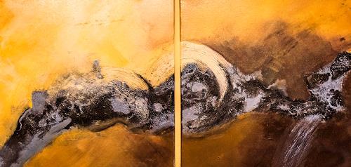 Ingrid TROLP, the wave, Abstraktes, Natur: Wasser, Gegenwartskunst