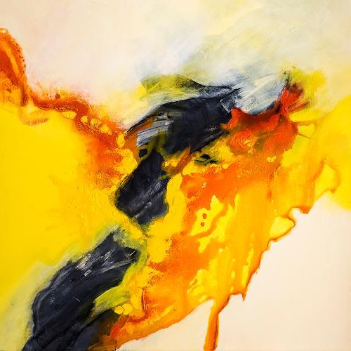 Ingrid TROLP, Kuss des Morgenlichts, Abstraktes, Gegenwartskunst, Abstrakter Expressionismus