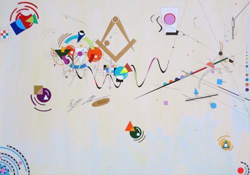Ralf Hasse, spielerisch – Farbenfroh, Abstraktes, Dekoratives, Neuzeit, Expressionismus