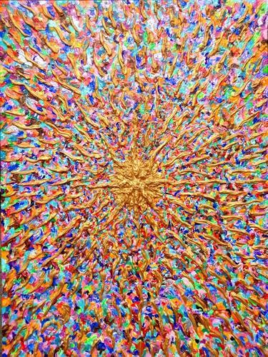 Ralf Hasse, Spirituelle Energie / Mut zur Farbe, Dekoratives, Abstraktes, Action Painting