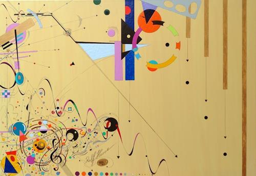 Ralf Hasse, Suprematism Pausenbrot 2 spielerisch Farbenfroh, Abstraktes, Dekonstruktivismus