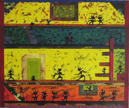 Manuel Süess, Nr. 730 Im Tanzhaus, Gefühle: Freude, Diverse Menschen, Abstrakter Expressionismus