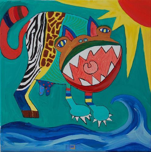 Katharina Orlowska, I love animals, Fantasie, Abstrakter Expressionismus