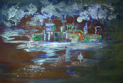 Katharina Orlowska, night in the city, Diverse Bauten