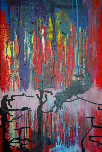 Katharina Orlowska, Freiheit ist Einsamkeit, Tiere: Luft, Natur: Wald