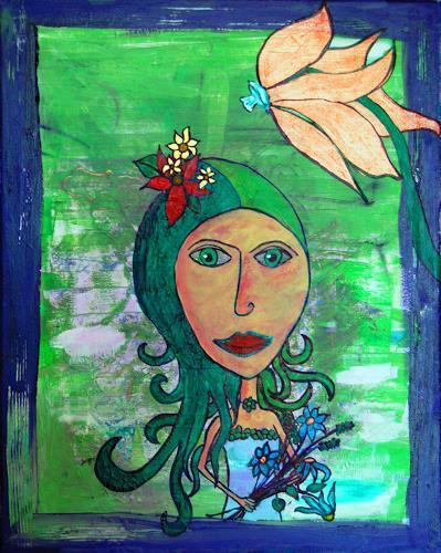 Katharina Orlowska, Aphroditina, Menschen: Frau, Pflanzen: Blumen