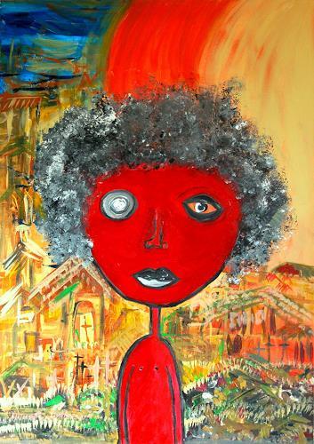 Katharina Orlowska, RIO, Diverse Menschen, Abstrakter Expressionismus