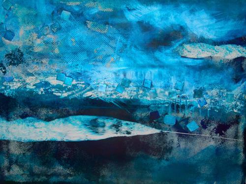 Katharina Orlowska, Harmonie im Eis, Abstraktes, Abstrakter Expressionismus