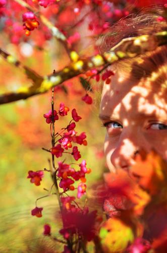Katharina Orlowska, Durch die Blume II, Menschen: Frau, Menschen: Gesichter