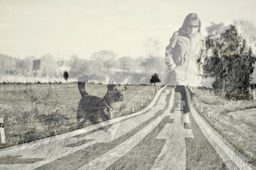 Katharina Orlowska, long way, Landschaft: Ebene, Situationen