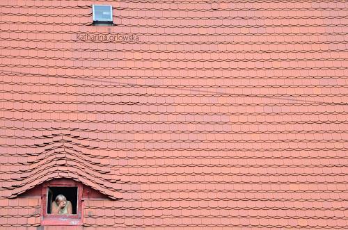 Katharina Orlowska, Dach und Mensch, Architektur, Abstrakte Kunst, Abstrakter Expressionismus