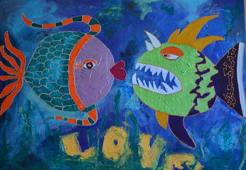 Katharina Orlowska, Love, Tiere: Wasser, Humor, Art Déco