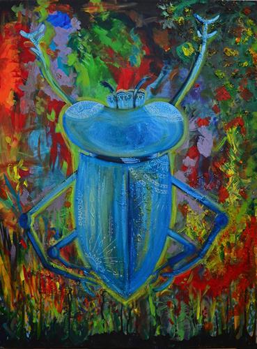 Katharina Orlowska, BEauTiFul BuGaBoo, Tiere: Land, Pflanzen: Bäume, Expressionismus, Abstrakter Expressionismus