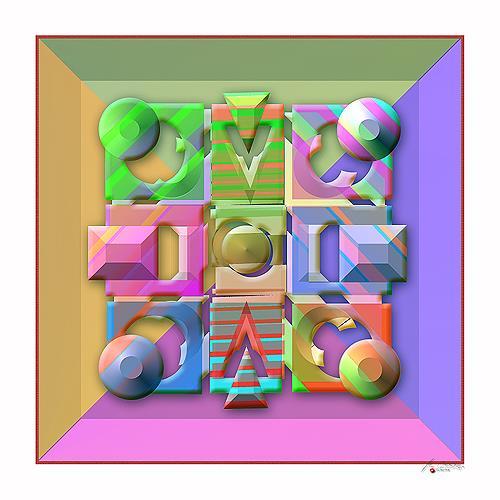 Marian Kuklinski, Minotaur, Dekoratives, Abstraktes, Gegenwartskunst