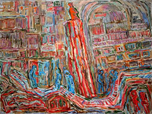 Vasiliy Tsabadze, Lifetime monument to wife, Gefühle: Liebe, Abstrakter Expressionismus