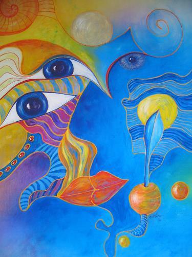 e.w. bregy, weisheit beflügelt, Symbol, Abstrakte Kunst