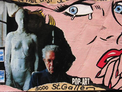 e.w. bregy, mail art, Fantasie, Abstrakter Expressionismus