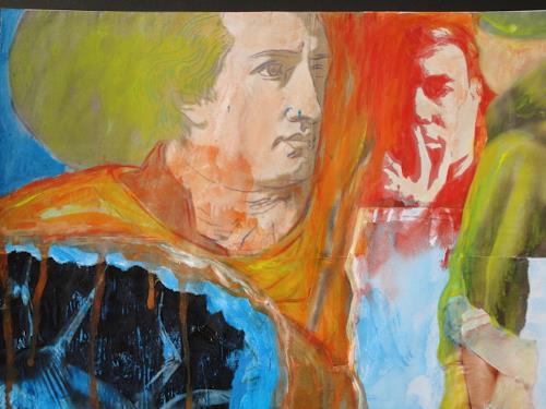 e.w. bregy, mail art, Fantasie, Abstrakte Kunst, Expressionismus