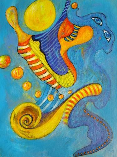 e.w. bregy, geburt der venus, Fantasie, Abstrakter Expressionismus