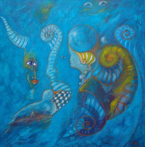 e.w. bregy, gehörnte bauernträume, Fantasie, Abstrakte Kunst