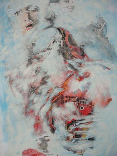 e.w. bregy, winterzauber: schneechaos, Fantasie, Abstrakter Expressionismus