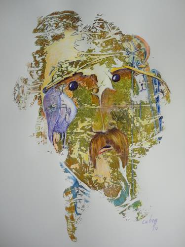 e.w. bregy, der komiker, Fantasie, Abstrakter Expressionismus